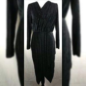 Missguided Black Velvet Corduroy Dress Wrap 12